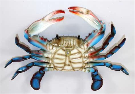 Blue Crab Decorations 6 Inch Maryland Blue Crab Tiki Bar Wall Decor Ebay