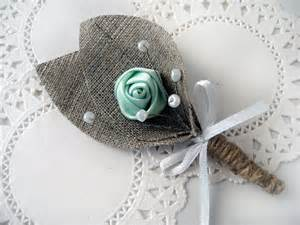 burlap boutonniere mint green flower burlap boutonniere buttonhole