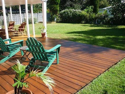deck in backyard here s a gorgeous backyard ground level deck landscape