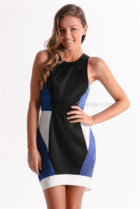 talking dress black blue esther