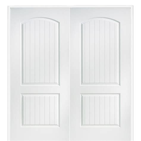 interior double doors home depot masonite 48 in x 80 in smooth 10 lite solid core primed