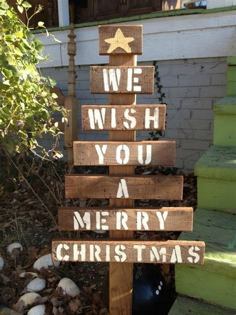 christmas decorations made from wood pallets pallet tree ideas creative diy decorations