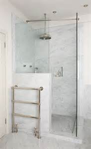 glass shower half wall 32 walk in shower designs that you will digsdigs