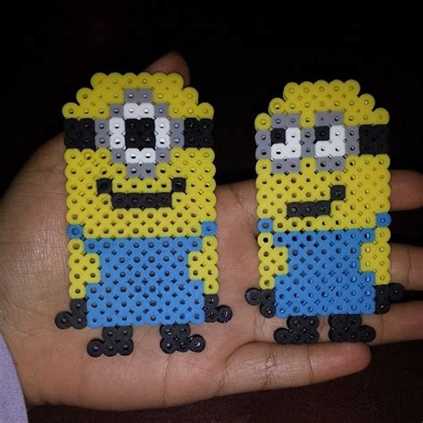 perler bead patterns minion minions perler by craftymamae melty bead patterns