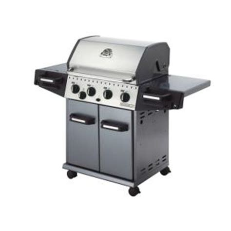 huntington rebel 440 4 burner gas grill with side
