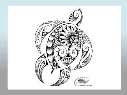 hawaiin tribal tattoo modern polynesian style honu design polynesian