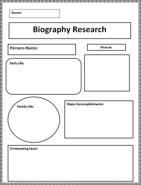 biography templates free word pdf documents creative