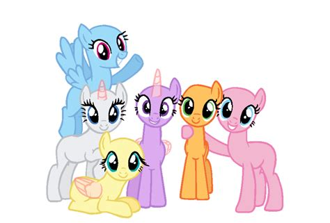 my little pony mane 6 base the mane six mlp bases mlp bases pinterest mlp