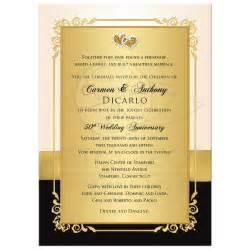 golden wedding anniversary invitation golden wedding anniversary invitations free invite