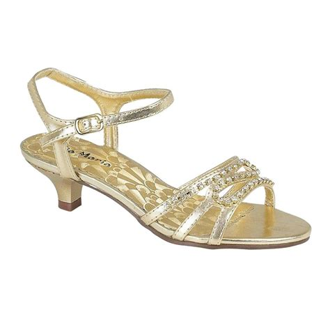 Gold Bridesmaid Sandals by Low Heel Wedding Bridesmaid Gold Silver