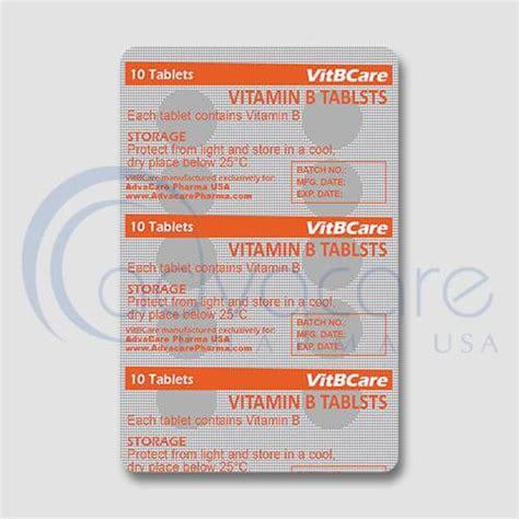 Vitamin B Complex Tablet vitamin b complex tablets advacare pharma