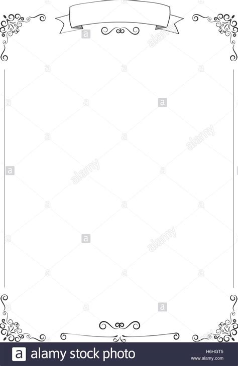 white cafe menu a4 size vertical cafe menu white background with retro ribbon and stock vector
