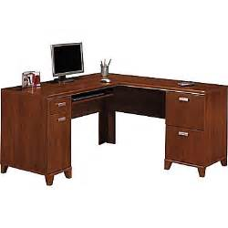 Staples Office Furniture Desks Bush Furniture Tuxedo L Shaped Desk Hansen Cherry Wc21430k Staples 174