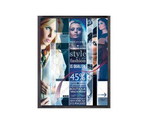 Modern Fashion Flyer Collage Template Creative Poster Design Poster Template Psd For Poster Collage Template