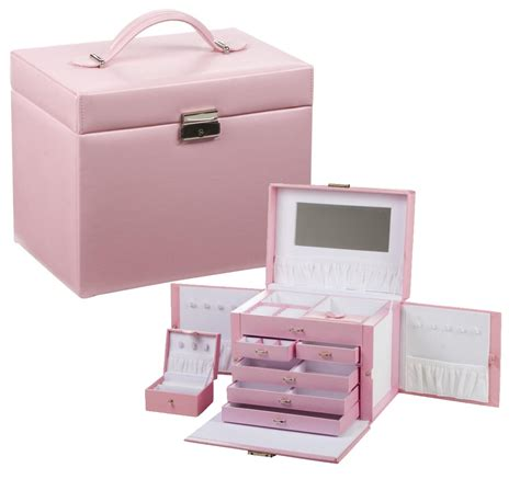 cute pink jewelry boxes storage for little girls with