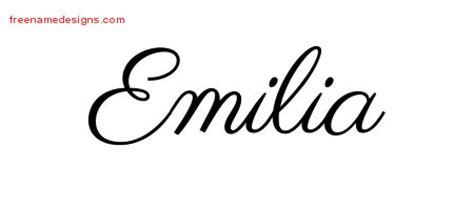 emilia archives free name designs