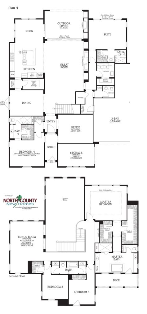 floor plan la southern preserve floor plans north county new homes