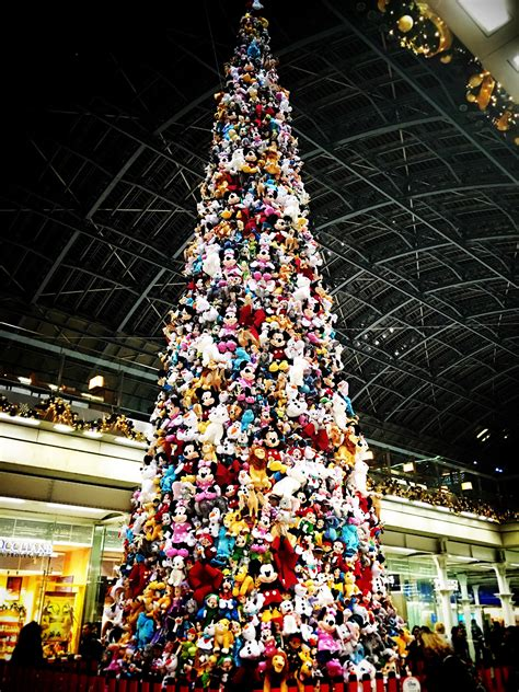 christmas tree made from disney toys looks completely