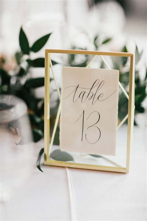 Table Number Holders Wedding Reception