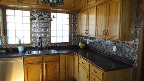 tin backsplash kitchen backsplashes traditional