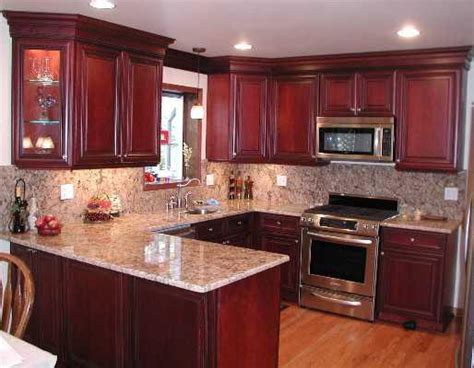 Cherry Oak Cabinets Kitchen Home Furniture Design Cherry Kitchen Cabinets