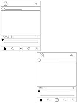 Social Media Project Templates Editable Versions Included Instagram Style Editable Instagram Template