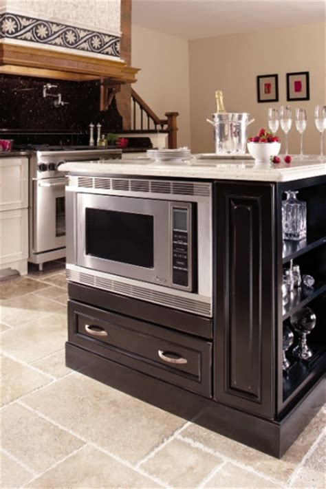 kitchen island with microwave pin by jen frodo on kitchen designs and such
