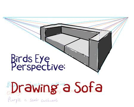 How To Draw A Sofa by How To Draw A Sofa Step By Step Perspective