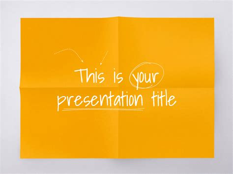 free presentation template playful style for education
