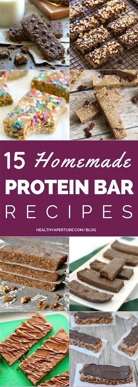 homemade protein bars lettuce head pinterest 15 healthy homemade protein bars homemade protein bars