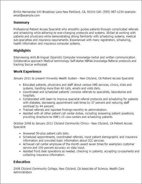 patient service representative resume template learnhowtoloseweight net