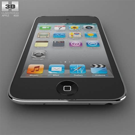 Ipod Touch 4 apple ipod touch 4 3d model humster3d