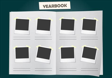 templates for yearbook pages album yearbook vector template free vector
