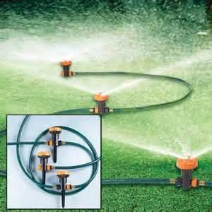 garten sprinkler system portable sprinklers to make your garden watering an easy task