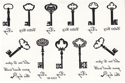 small key tattoo designs 20 amazing key designs