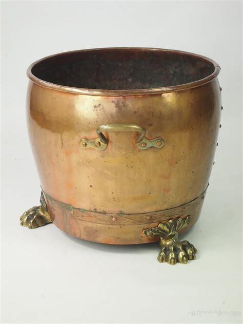 antique copper antiques atlas large antique copper log bin or jardiniere