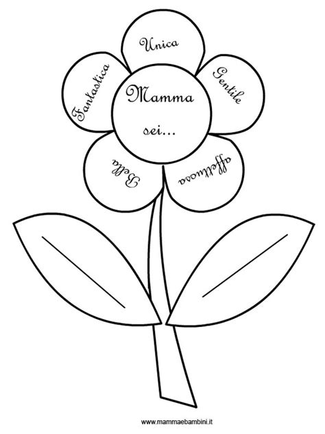 immagini di fiori da colorare fiore da colorare con dedica per la mamma mamma e bambini
