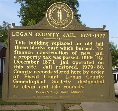 Logan County Property Records Logan County 1874 1977 Kentucky Historical Markers