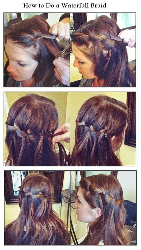 how to waterfall braid step by step new short hair styles how to do a waterfall braid
