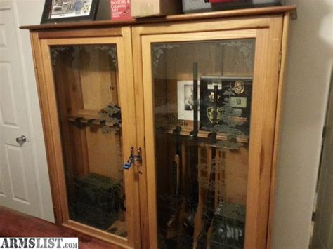 wood gun cabinet with etched glass solid wood gun cabinet storage underneath etched glass