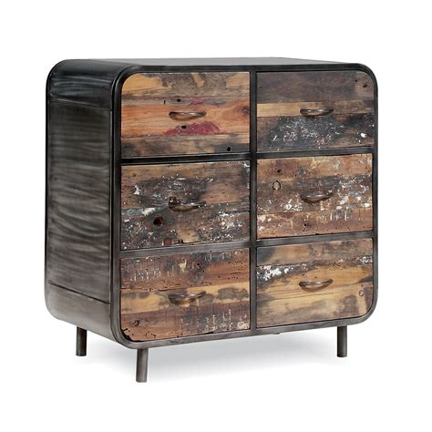 Retro Drawers by Retro Buffet Unit With 6 Drawers In Recycled Boat Wood