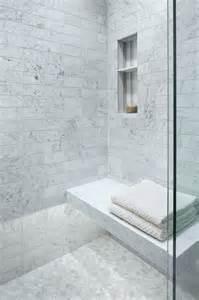 corner floating marble shower bench design decor