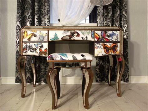 butterfly by christian lacroix fabric a unique dressing table with stool www