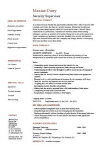 security manager resume sles security supervisor resume sle exle patrol