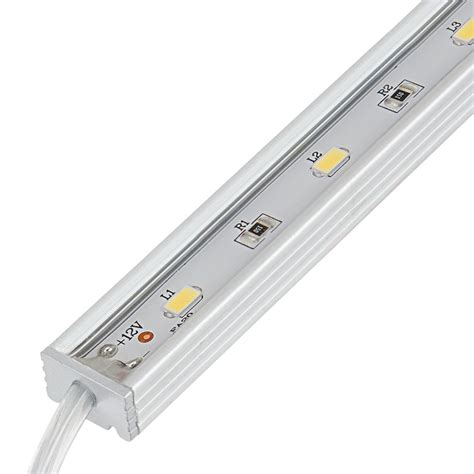 Led Waterproof waterproof linear led light bar fixture w dc barrel connectors 675 lumens aluminum light
