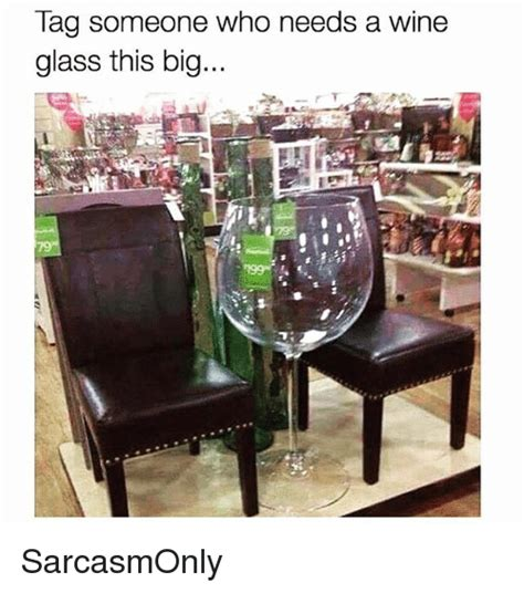 Wine Glass Meme - tag someone who needs a wine glass this big sarcasmonly