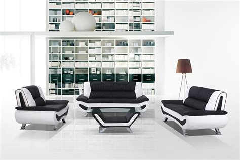black and white couches 3032c modern black and white sofa set
