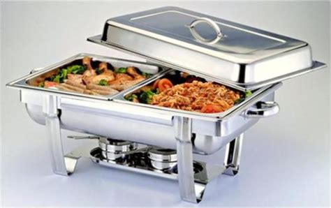 dishes for buffet 1 2 size chafer pan 2 pack catering hotel chafing dish