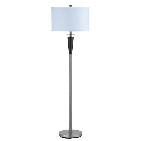 cal lighting floor l cal lighting cooper 61 in brushed steel floor l la