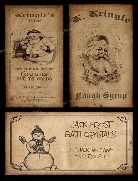 printable primitive labels vintage primitive style christmas label instant